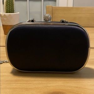 Ann Taylor evening bag. Black with silver